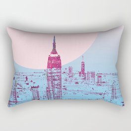 Sun In The City Skyline Design Rectangular Pillow
