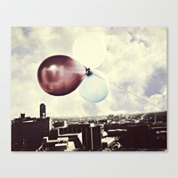skyline Canvas Prints featuring Skyline by maybesparrowphotography