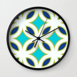 Trellis Teal Wall Clock