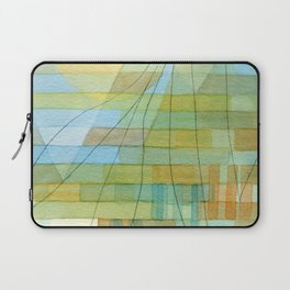 Olive trees by the city -watercolor and pencil city illustration Laptop Sleeve
