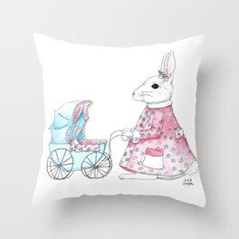 Mommy Bunny Throw Pillow