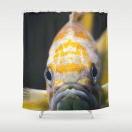 sad goldfish Shower Curtain