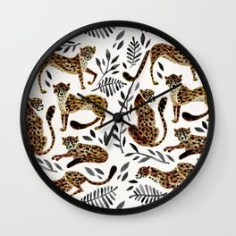 Cheetah Collection – Mocha & Black Palette Wall Clock