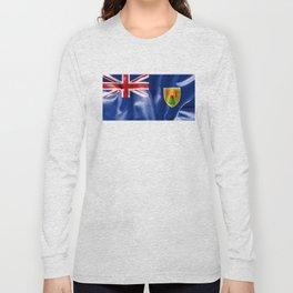 Turks and Caicos Islands Flag Long Sleeve T-shirt