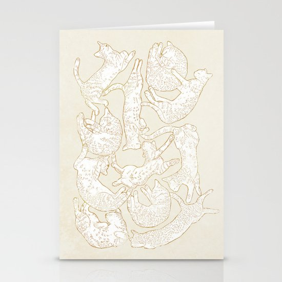 Eleven Sleepy Cat Stationery Cards