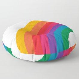 Retro Bright Rainbow - Left Side Floor Pillow