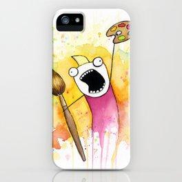 Meme Painting iPhone Case