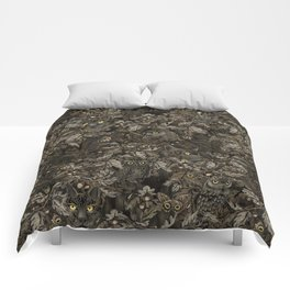 Fit In (autumn night colors) Comforters
