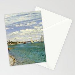 Claude Monet - Regatta at Sainte-Adresse Stationery Cards