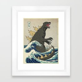The Great Godzilla off Kanagawa Framed Art Print