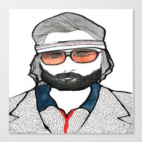 tenenbaum Canvas Prints featuring Richie Tenenbaum by daniel davidson