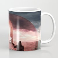 surrealism Mugs featuring surrealism  by mark ashkenazi
