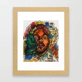 chance the rapper,coloring book,shirt,lyrics,music,art,wall art,cool,dope,colorful,painting,fan art Framed Art Print