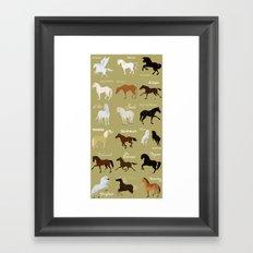 Famous horses Framed Art Print