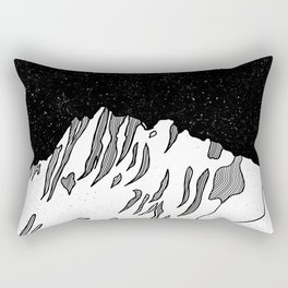 Puncak Jaya Mountain Black and White Rectangular Pillow