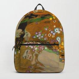 """Gustav Klimt """"Water Serpents"""" Backpack"""