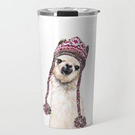 The Llama with Hat Travel Mug