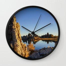 Sunrise at Mono lake Wall Clock