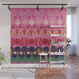 lotus block pink Wall Mural