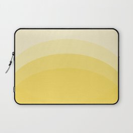 Four Shades of Yellow Curved Laptop Sleeve
