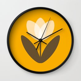 Tulip in Mustard Yellow Wall Clock