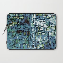Blue Green Abstract Geometric Low Poly Modern Art Laptop Sleeve