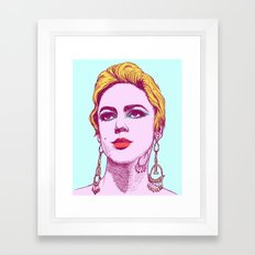 60s Edie Sedgwick Illustration Framed Art Print