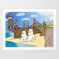 The Moomins Art Print