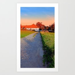 Early summer morning hiking trip | landscape photography Art Print