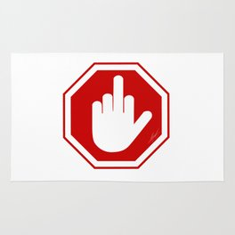 DAMAGED STOP SIGN Rug