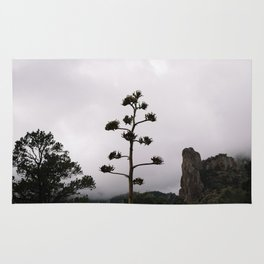 Lone Tree on Foggy Mountain Top Rug