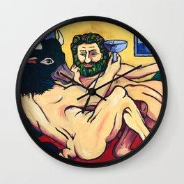 Minotaur and Bakchus Wall Clock