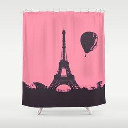 Paris by air Shower Curtain