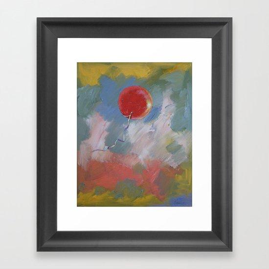 Goodbye Red Balloon Framed Art Print