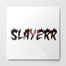 SLAYERR 21 Savage Metal Print