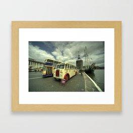 Buses n Boat  Framed Art Print