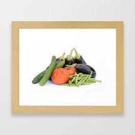 Vegetables together Framed Art Print