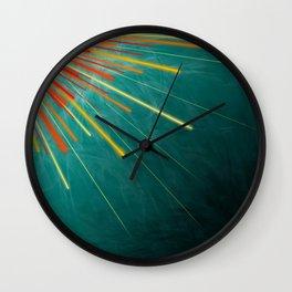 Aqua Starburst Wall Clock