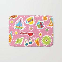 Summer Fun Pink Bath Mat