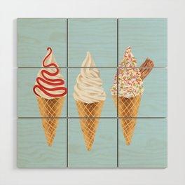 Ice Cream Wood Wall Art