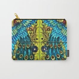 Peacocks with Flower Urns and Gold Leaf Carry-All Pouch