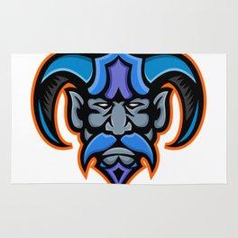 Hades Greek God Head Mascot Rug