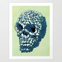 kozyndan Art Prints featuring Bunny Skull Uprisings  Edition by kozyndan