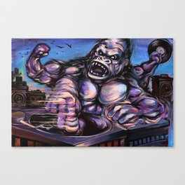 Gorilla King Massive Canvas Print