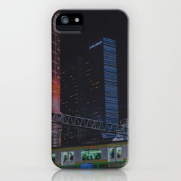 Tokyo feels : Shinjuku blue 7 iPhone Case