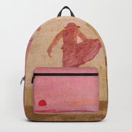 playing at sunset Backpack
