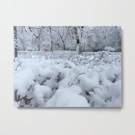 The Snowy day. Metal Print