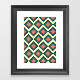 Retro Pattern VII Framed Art Print