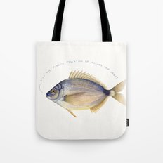 Stop the plastic pollution of oceans and seas! Tote Bag