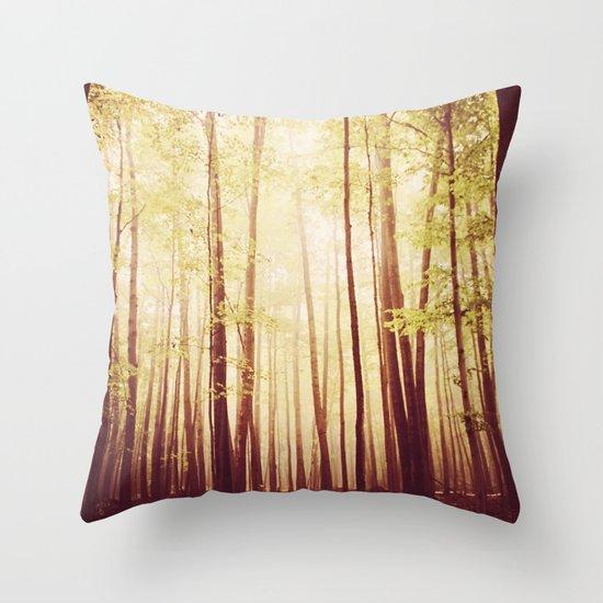 autumn forest   Throw Pillow
